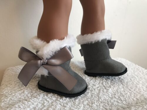 18 pollici GRIGIO Stivali di Pelle di Pecora Bambola di American Girl nostra generazione
