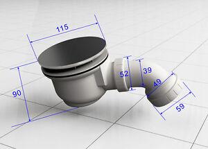 Siphon-90-mm-Ablauf-Duschkabine-Ablaufgarnitur-Duschtasse-Duschwannenablauf