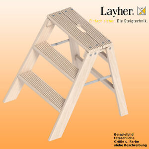 layher klappbarer holz stufentritt 3 stufen bock tritt l 0 78m typ ebay. Black Bedroom Furniture Sets. Home Design Ideas