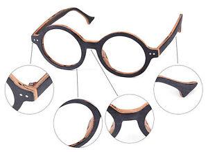 c36c5f5f834 Image is loading Handmade-Vintage-Retro-Round-Glasses-Wood-Frame-Eyeglass-
