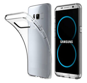 Samsung-Galaxy-S8-TPU-Slim-Bumper-Case-Cover-Schutz-Etui-Huelle-Back-Silikon-klar