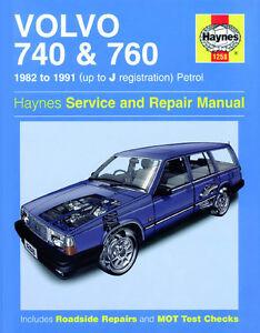 1258 haynes volvo 740 and 760 petrol 82 91 up to j workshop rh ebay it haynes manual volvo 740 haynes manual volvo 740