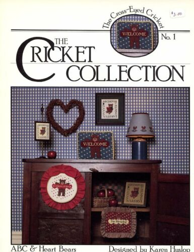 ABC /& Heart Bears Cricket Collection No 1 Cross Stitch Pattern Leaflet