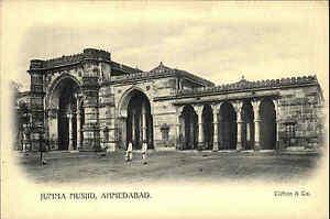 INDIEN-Pc-India-um-1900-AHMEDABAD-Jumma-Musjid-Clifton-Vintage-Postcard-Asia
