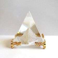 Transparent Crystal Pyramid Bigger Feng Shui for Prosperity and Positive Energy