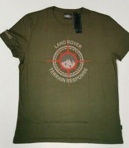 Genuine-Land-Rover-Terrain-Printed-Men-039-s-T-Shirt-Green-100-Cotton-51LCTM093GNG