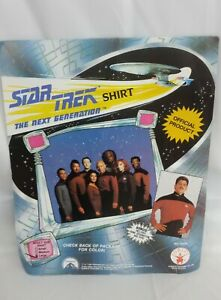 "1991 Star Trek Shirt ""The Next Generation"" Rubies Costumes. Adult Large"