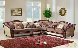 Image is loading Chateau-Formal-Antique-Style-Traditional -Living-Room-Furniture- : traditional sectional sofa - Sectionals, Sofas & Couches