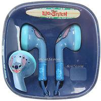 Disney Lilo & Stitch Hawaii Alien Face Earbuds Headphones Experiment 626