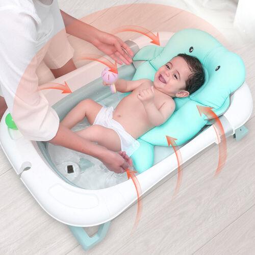 Kissen Pad Duschmatte Badkissen Badzimmer Thermometer Baby faltbare Badewanne