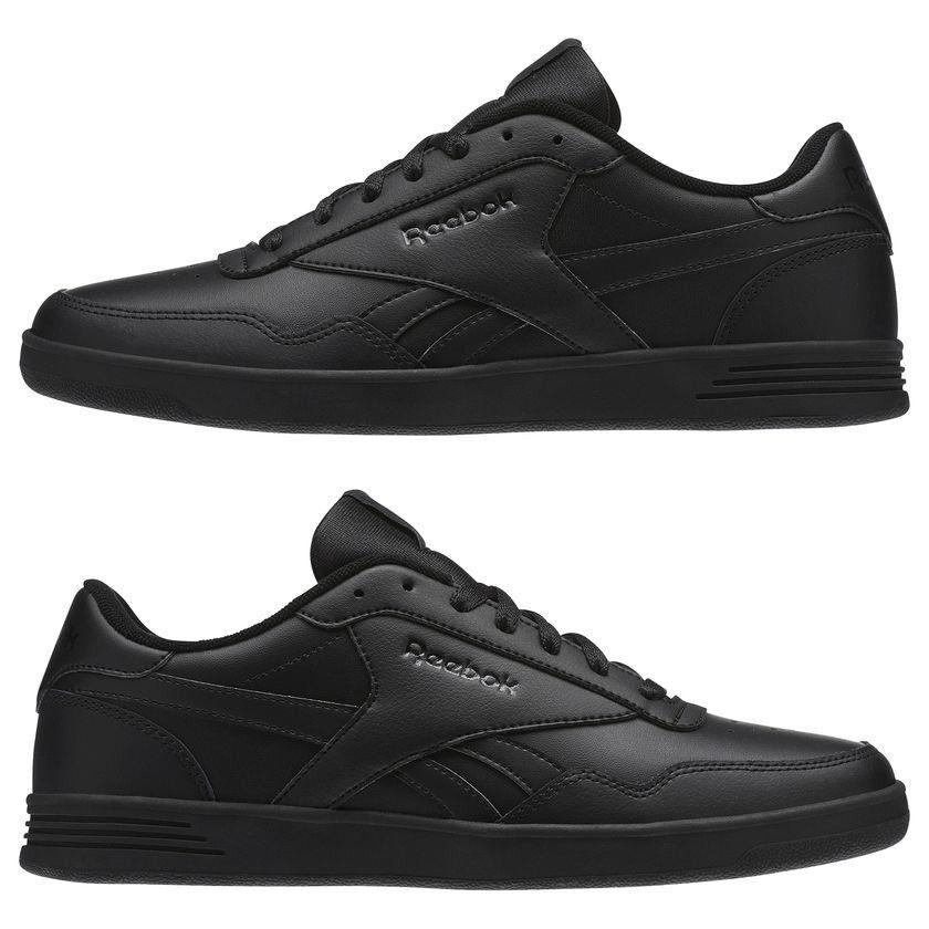 Reebok Royal techque T Chaussures Hommes Baskets en Cuir Noir BS9090