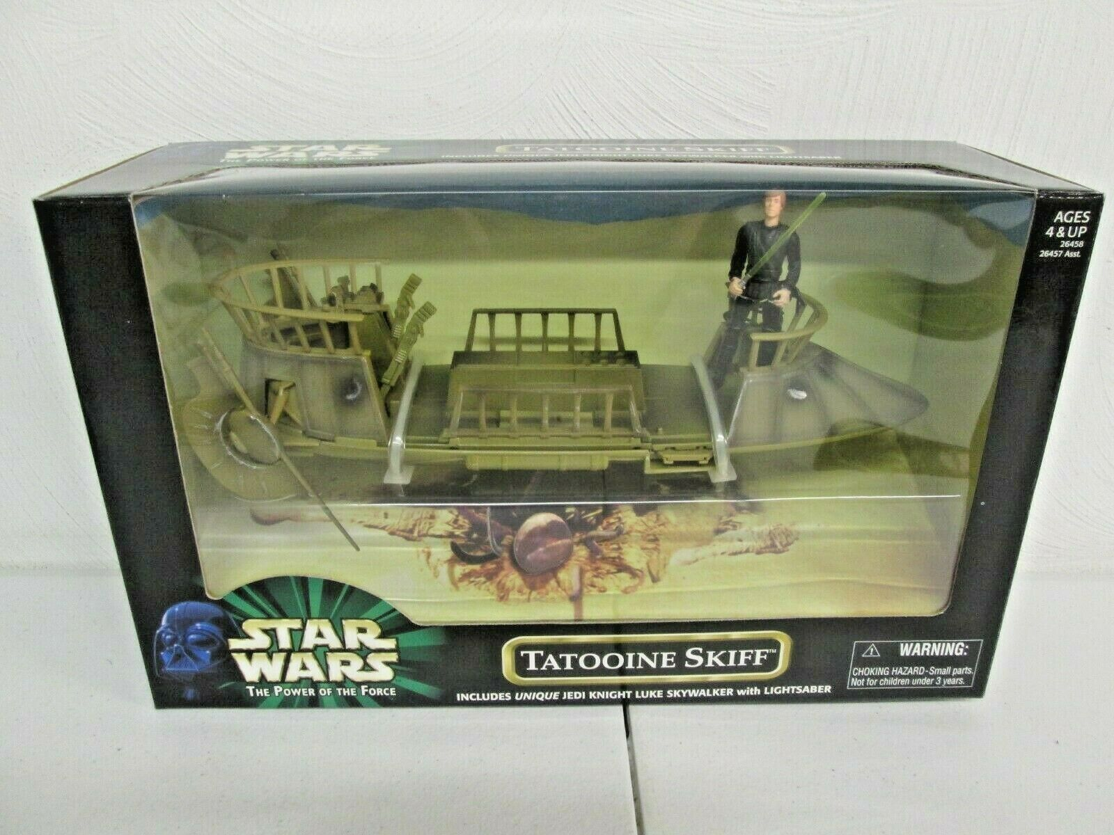 HASBRO - STAR WARS POWER OF THE FORCE - TATOOINE SKIFF - NEW    (A)