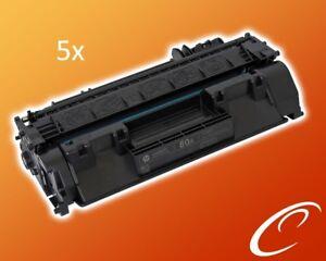 5x-Original-HP-Toner-CF280A-80A-fuer-Pro-400-M401-M425-Fuellstand-100