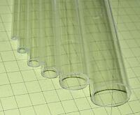 "1 Clear 5/8"" Od X 3/8 Id X 24"" Inch Long Acrylic Plexiglass Lucite Plastic Tube"