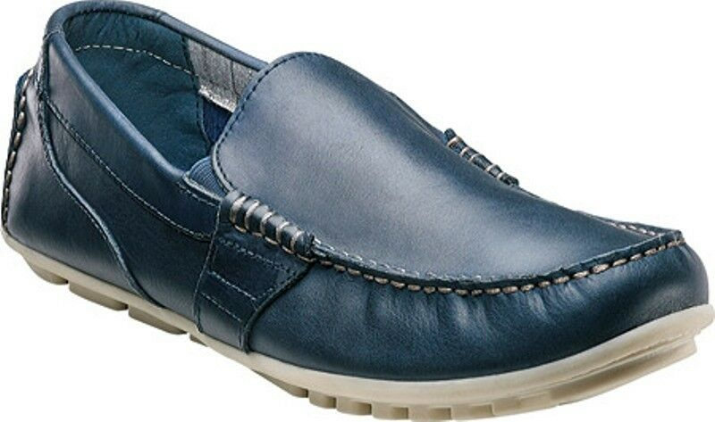 Nunn Bush Shawno Men's Smooth Leather Driving Moccasins shoes Style 84509 NAVY