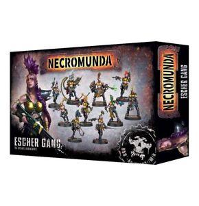 Necromunda-Esher-Gang-kriegerinen-casa-Esher-Ganger-Games-Workshop-underhive