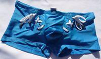 Mens Swimwear Elektrik® Wikiki Lace Up Swim Trunk Blue Squarecut