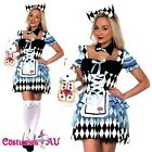 Ladies Alice in Wonderland Costume Disney Fairytale Book Week Adults Fancy Dress