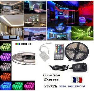 Kit-1-a-30-m-Bande-Ruban-LED-Strip-Flexible-RGB-5050-SMD-livraison-express-48h