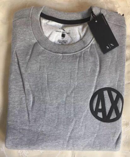 Jumper Exchangecrew Size Long Grey Armani Men's sweater large Sleeve Neck 5Xq7nRRwf