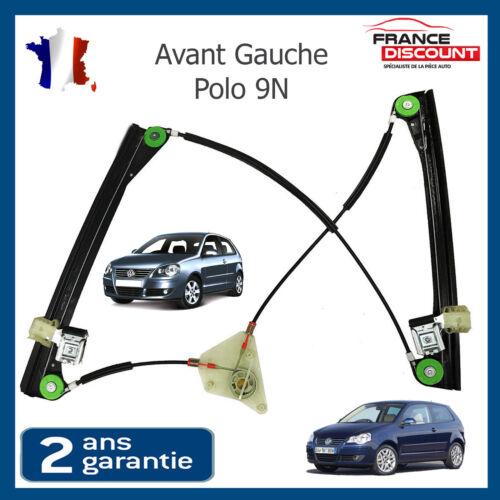 3 Portes 6n3837461 Mecanisme Leve Vitre Avant Gauche Vw Polo 9n 2001-2009