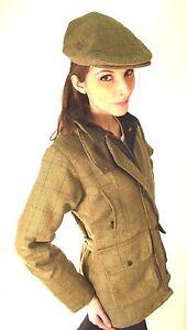 Neuf Pour Femmes Pays Sport Chasse Derbies En Tweed Veste Mode Vert ... 6698cb317d30