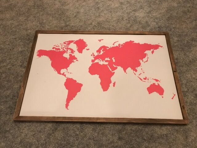 Buy Framed Vintage Retro World Map Large Canvas Art Prints Picture