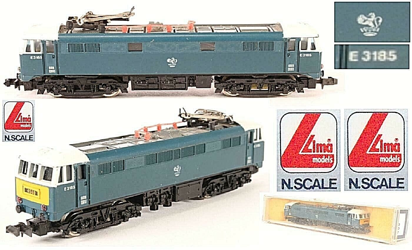 Lima Vintage 205 at Lune Gorge Class-86 E3185 Br Enghlish Electric bluee Box