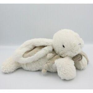 Doudou et compagnie lapin blanc gris tout doux Bonbon 32 cm - Lapin Classique