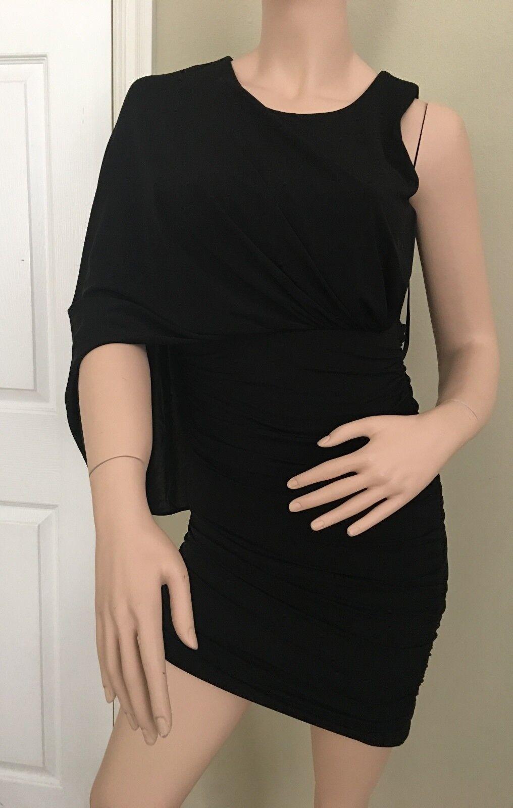 Bcbgmaxazria Venus Abito Misura X- Piccolo Farbee schwarz