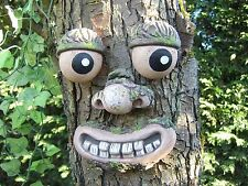 TREE FACE. Garden ornament, sculpture, statue, tree decoration, funny face gifts