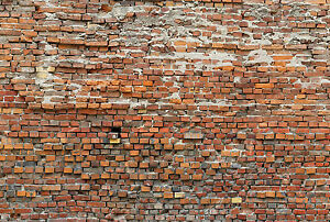 Non Woven Giant Wallpaper 368x248cm Red Brick Wall Design Wall