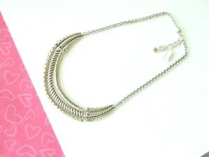 Brighton-Tropic-Heart-Trio-Braid-Bar-Silver-Necklace-New-tags-78