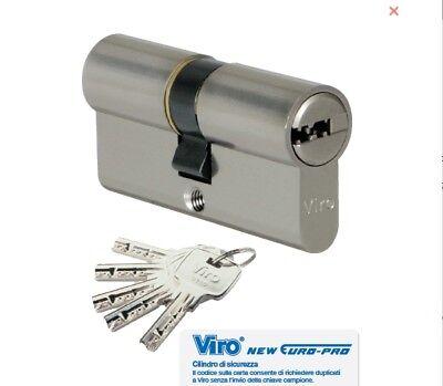 Viro, Serratura Cilindro 100/40/60 Profilato Sicurezza Chiave Piatta Reversibile Sangue Nutriente E Regolazione Dello Spirito