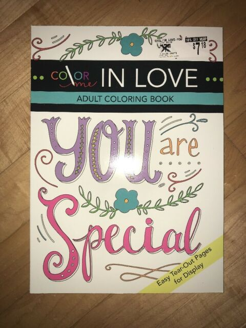 Adult Coloring Book Color Me in Love One Sided Easy Tear out Pages ...