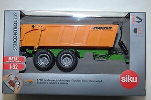 Siku-Control32-6780-Tandem-Ejes-Colgante-Zu-Rc-Modelos-y-1-3-2-Granjero-Nuevo