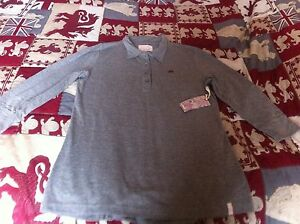 Ladies-3-4-Sleeve-Top-Grey-With-Colour-Flecks-Quiksilver-Size-X-S-New-With-Tag