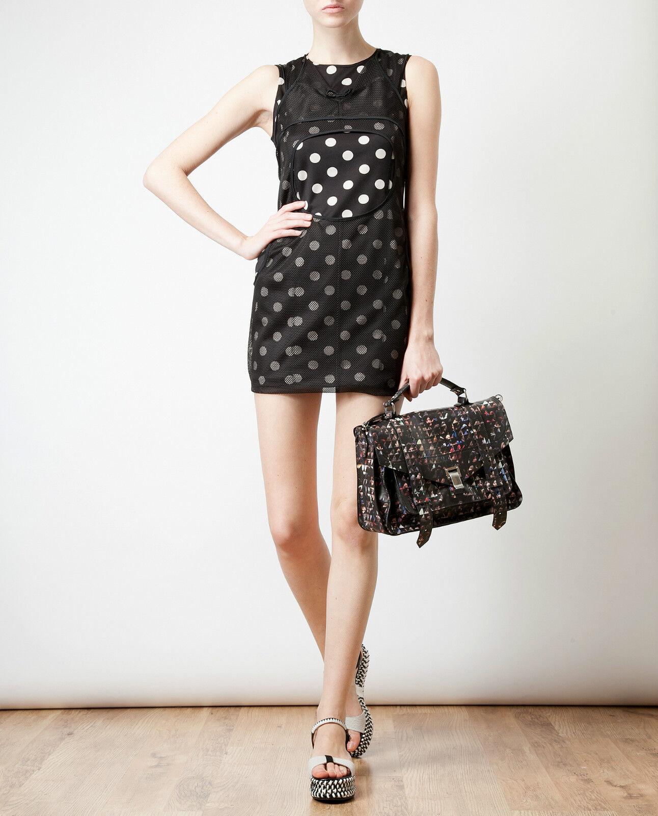 Junya Watanabe Mesh Overlay Polka Dot Mini dress ( Size L)