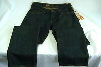 Mens Bullhead  Strands  Low Slim Dark Crackle Jeans Pants 32 W 34 L