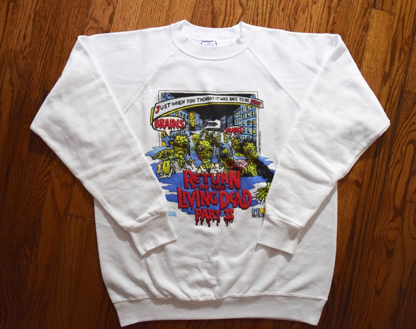 1988 RETURN OF THE LIVING DEAD PART 2 sweat shirt vtg 80s cult horror movie