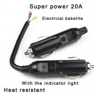 DC12V-24V-Automobile-Male-Car-Cigarette-Lighter-Socket-Plug-Connector-Adapter
