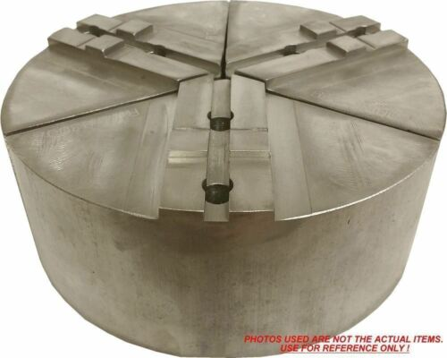 """RTG-8300A ALUMINUM ROUND JAWS FOR TONGUE /& GROOVE 8/"""" CHUCK WITH A 3/"""" HT 3PC SET"""