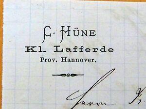 KLEIN-LAFFERDE-1875-C-HUNE-Lito-Rechnung-Autograph-S79