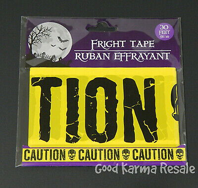 Gothic Skull-DEAD END-Fright Caution Tape-Halloween Party Decoration Prop-30ft-G