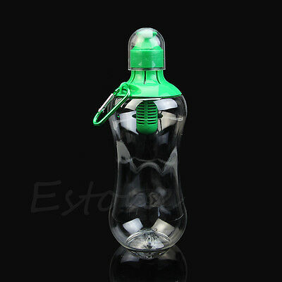 550ml Water Hydration Filter Bobble Bottle Drinking Outdoor Sports Hiking New