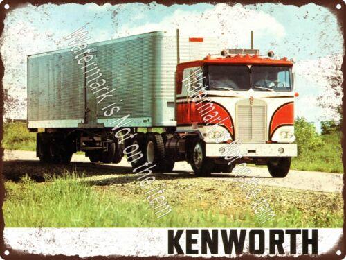 "1970s Kenworth K100 Series Transfer Truck Garage Mancave Metal Sign 9x12/"" A222"