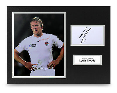 Lewis Moody Signed 16x12 Photo Display England Rugby Autograph Memorabilia COA