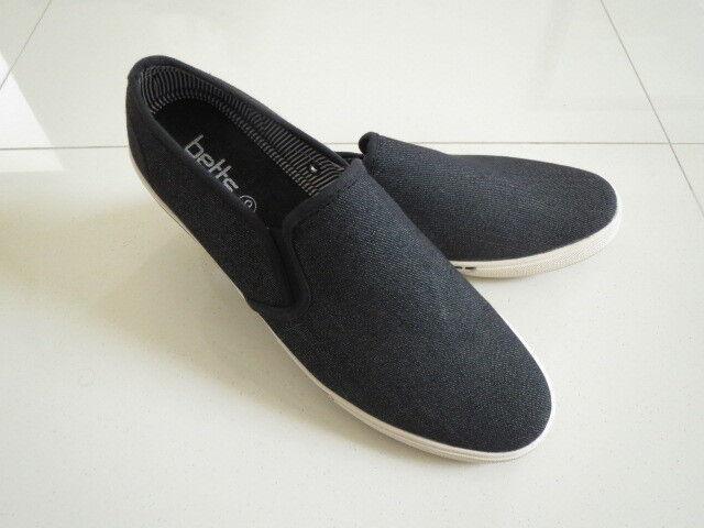 BN Betts  Men's Black/Charcoal  Slip On 6 Casual Sneaker  Size: 6 On 7be0e8