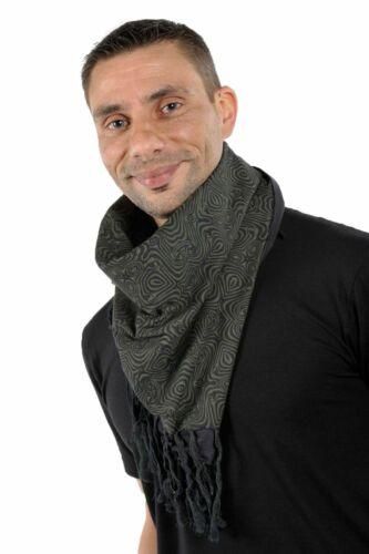 Neuf S au XXXL Cheche foulard coton epais noir kaki psychedelic