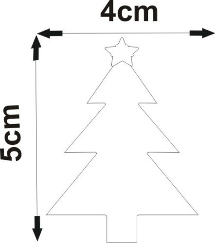 Pack of Christmas Tree Craft Scrapbook Card Embellishment Wedding Acrylic Mirror